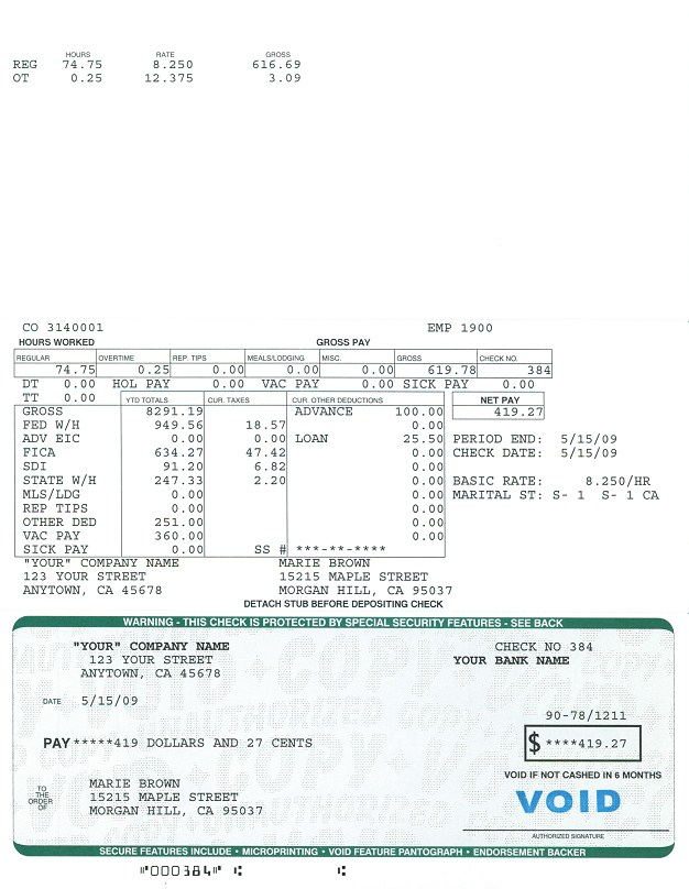 payroll service x act computer service sample payroll